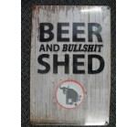 Beer and Bullshit Tin Sign