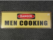 Danger, Men Cooking
