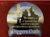 Diggers Oath Tin Sign